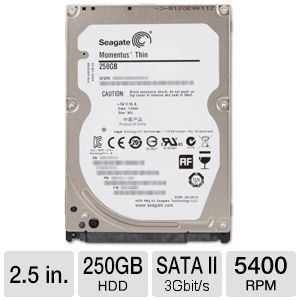 Hdd Laptop Seagate momentus thin 250Gb Sata