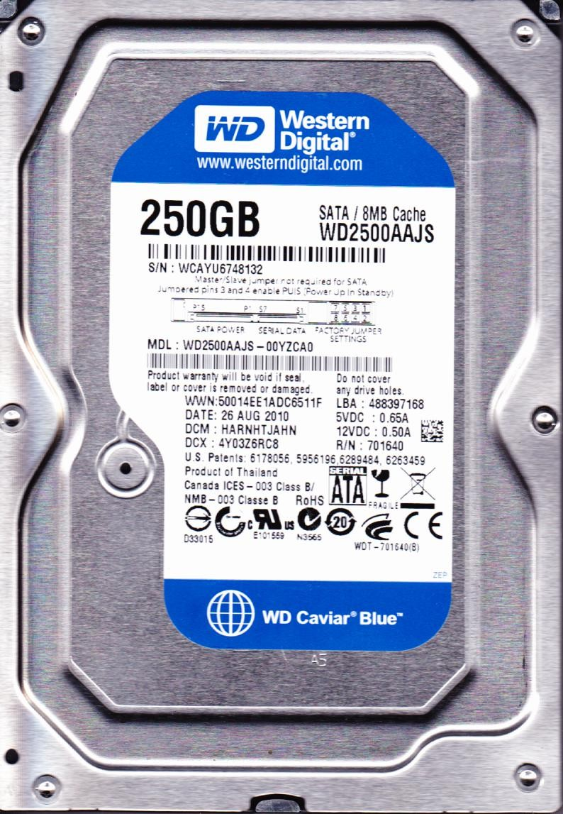 HDD Western 500Gb – Sata-BLUE