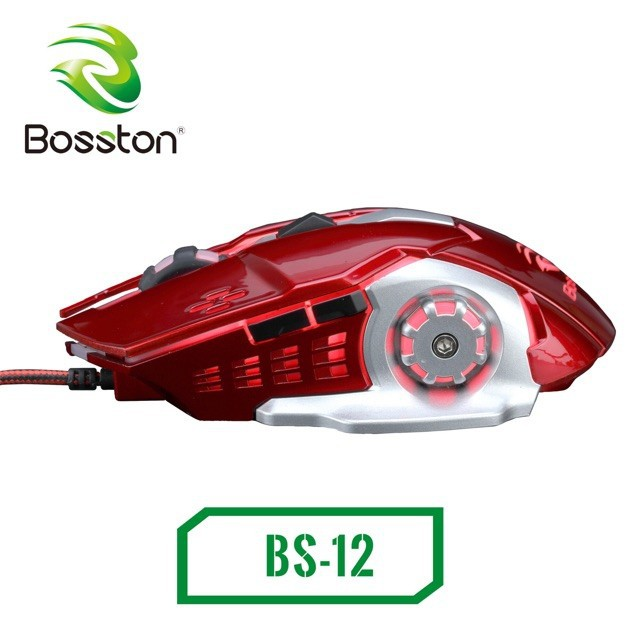 Mouse Bosston BS12 đen LED